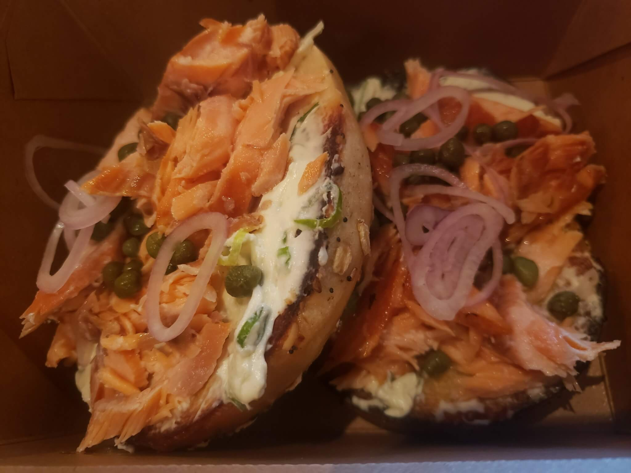 Mercantile & Mash - Everything Bagel with Salmon