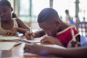 Child Writing His Feeling